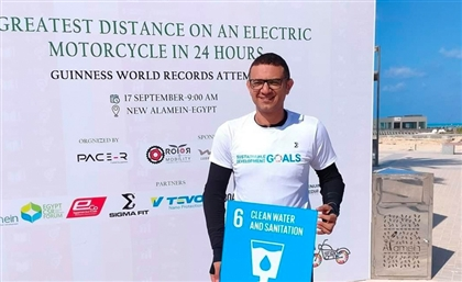 Ali Abdo Sets World Record for Longest Electric Bike Ride in 24 Hours